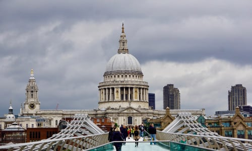 St. Paul's Cathedral from the Millennium Footbridge