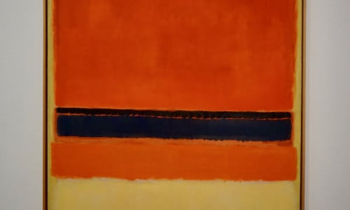 UNTITLED (RED, BLACK, ORANGE & PINK ON YELLOW) by Mark Rothko