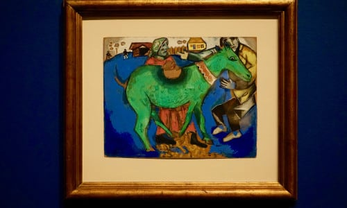 The Green Donkey 1911 by Marc Chagall